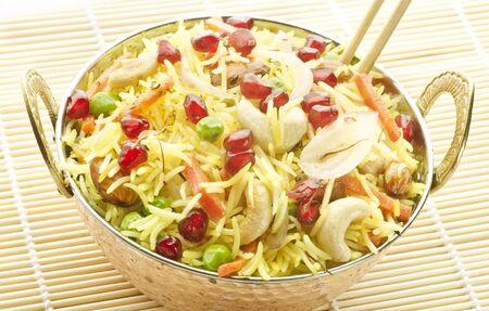 Yummy delicious safron rice Stock Photo