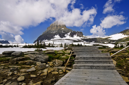 A trail on the way to Hidden Island at Glacier National Park
