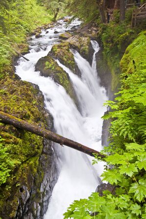 sol duc: The sol duc waterfall Stock Photo