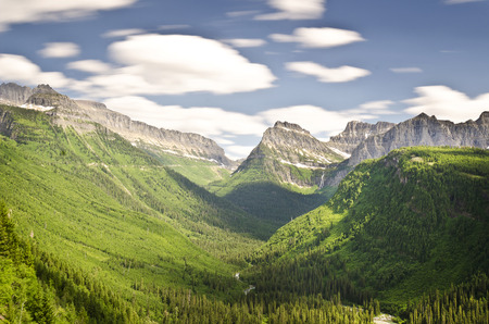 valley view: Beautiful valley view of glacier national park