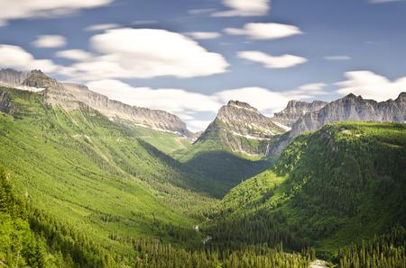 Mooi uitzicht op de vallei van de gletsjer nationaal park