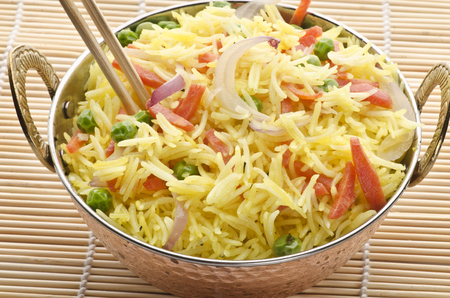 biryani: Yummy vegetable pulao Stock Photo