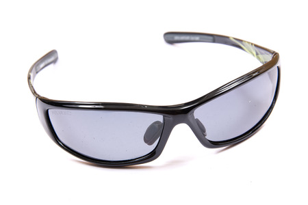 an eyepiece: Sport sunglasses isolated on white.