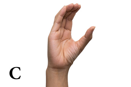 asl sign: Finger Spelling the Alphabet in American Sign Language (ASL). The Letter C