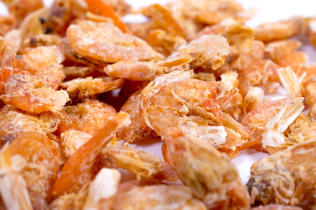stuff fish: Small dried shrimp for cooking at market