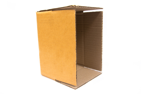 cardboard box isolated on white background,paper box Stock Photo
