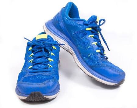 foot ware: running or gym shoes are a sportwear on a white background