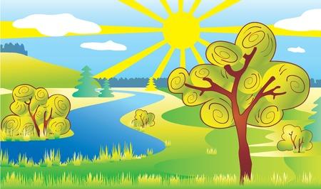 Ecology landscape. Vector