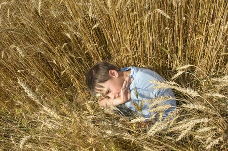 Boy in the field  photo