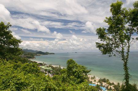 chang: Panorama of tropical island. Ko Chang. Thailand.  Stock Photo