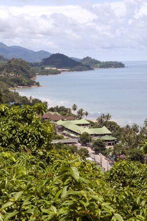 koś: Panorama of tropical island. Ko Chang. Thailand.  Stock Photo