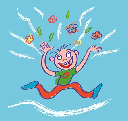 be happy: Be happy. Vector illustration.