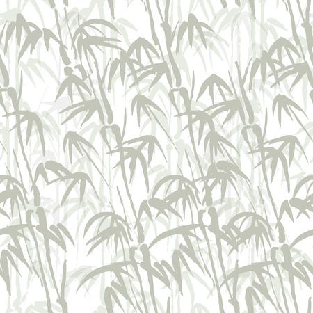 Naadloze vector achtergrond met bamboe van grijze kleur Stock Illustratie
