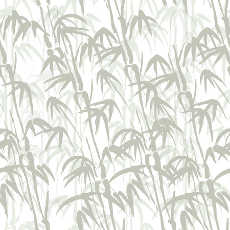 ongoing: Seamless vector background with bamboo of gray color
