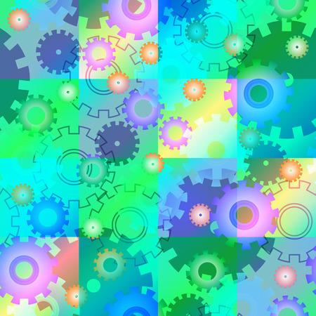mecanica industrial: Seamless Mecánica industrial de fondo. Resumen ilustración vectorial.