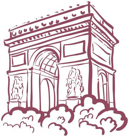 cymbol: Vector illustration on the theme of a trip to Paris