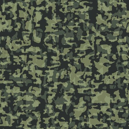 ongoing: Vector illustration of camouflage seamless green pattern
