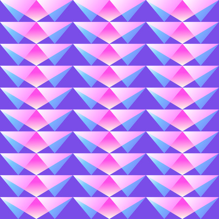 ongoing: Seamless geometric pattern of triangle and squares Illustration