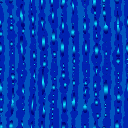 grit: Seamless texture of blue stripes and drops. Vector background.