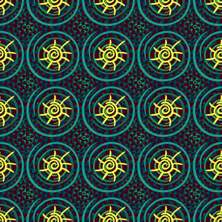 cyrcle: Seamless ornamental texture of endless round color spots. Illustration