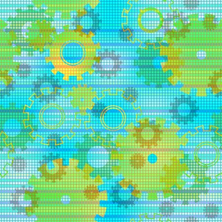 mecanica industrial: Seamless mec�nica industrial de fondo. Resumen ilustraci�n vectorial.