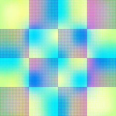 ongoing: Seamless geometric pattern of squares and circles.