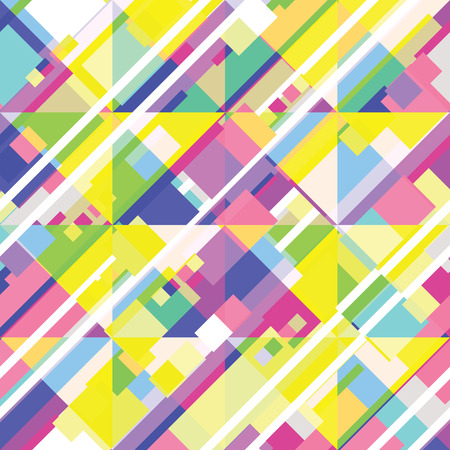 shape triangle: Seamless geometric vector pattern of colorful stripes Illustration