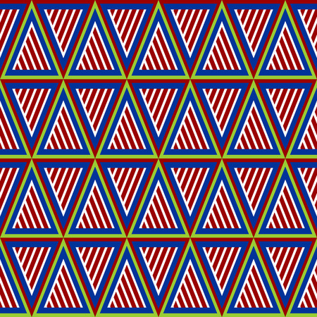 ongoing: Seamless geometric pattern of triangle and stripes Illustration
