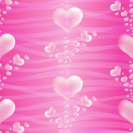 jealousy: White hearts on pink background .  Valentines day and wedding celebration