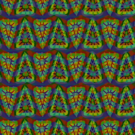 ongoing: Vector seamless geometric pattern of colorful triangle
