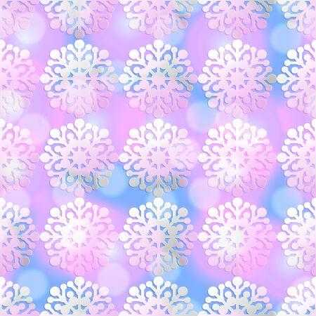 endless: illustration. Christmas snowflakes colorful endless background