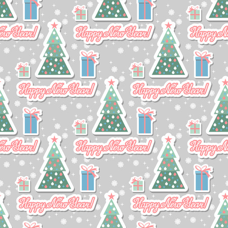 christmas tree illustration: Illustration. Christmas seamless background with christmas tree