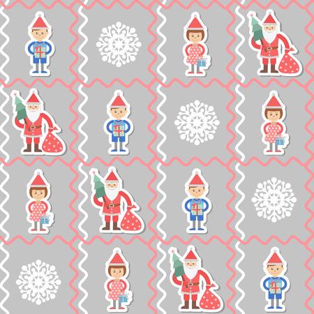 christmas tree illustration: Illustration. Christmas seamless background with christmas tree