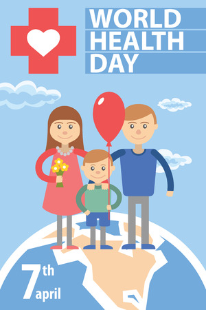 Conceptual vector illustration for world health day.