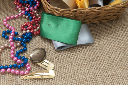 blanks: Materials for Handicrafts. Strip and blanks for making jewelry. Stock Photo