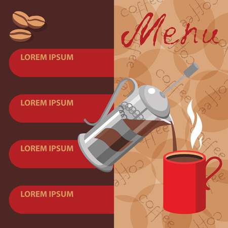 Press P Template | Template Design For Cafe And Restaurants Menu Vector Illustration