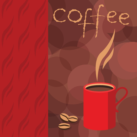 hot cup: Vector drawing of a hot Cup of coffee for printed materials brochure, leaflet, flyer corporate style cafe and restaurant