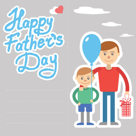 Father and son vector illustration for father day holiday Ilustração