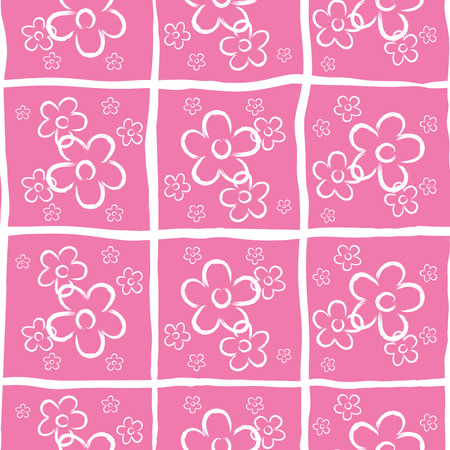 neat: Vector seamless pink neat small flower print. Illustration