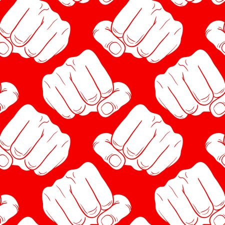 bump: Raised fist. Strong fist on a red background. Mans hand. Male fist. Symbol of power and authority. Painted vector fist. Fist sketch Illustration