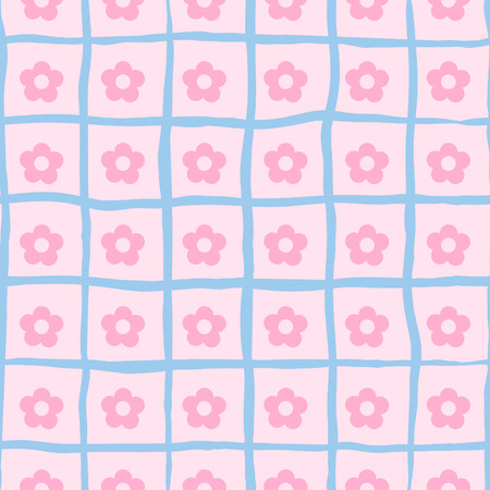 small flower: Vector seamless pink neat small flower print. Illustration