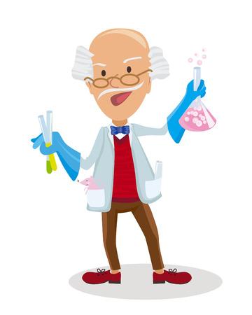 physicist: Vector illustration of Cartoon Scientist doing experiments Illustration
