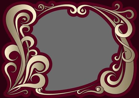 elegantly: Vector illustration of vintage golden frame Illustration