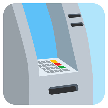 ATM bank cash machine on white background isolated vector illustration
