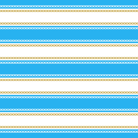 Seamless pattern with stripes and chains.