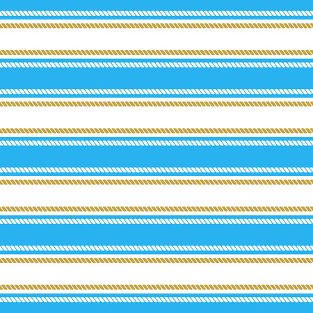 ongoing: Seamless pattern with stripes and chains. Ongoing backgrounds of marine theme.