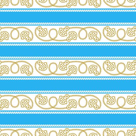 Seamless vector pattern marine theme. Illustration