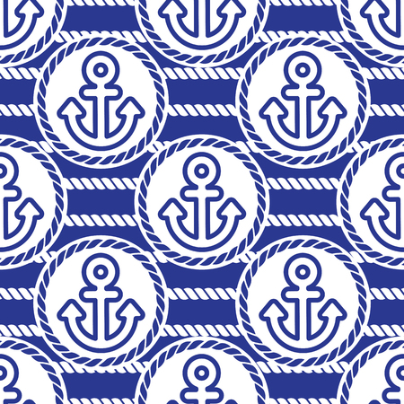 ongoing: Seamless pattern with anchors. Ongoing backgrounds of marine theme.