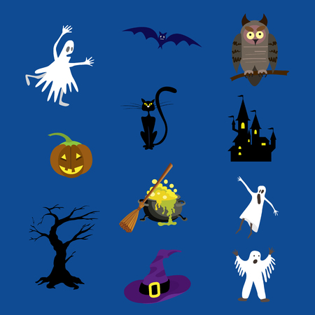 Halloween icons set vector illustration for your design. Illustration