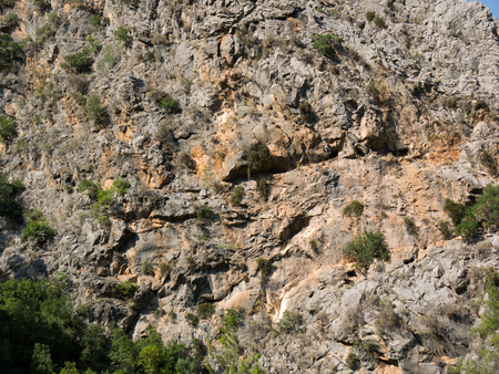 Beautiful texture of the mountain in National reserve Goynuk Canyon Stock Photo